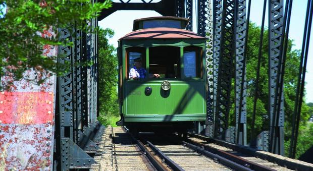 Fort Lincoln Trolley (credit to North Dakota Office of Tourism)